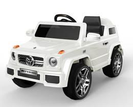 Эл-мобиль FL1058 EVA WHITE джип  на Bluetooth 2.4G Р/У 2*6V4.5AH мотор 2*25W с MP3 117*69*53 /1/