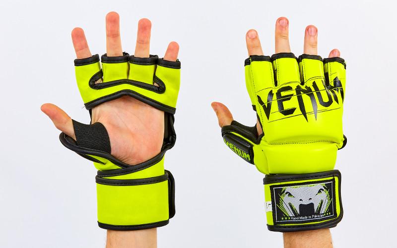 Перчатки для смешанных единоборств MMA FLEX VENUM ELITE NEO VL-5788 (XL, Салатовый)