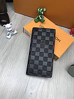 Гаманець клатч портмоне LOUIS VUITTON гаманець шкіряний чоловічий жіночий преміум репліка AAA+, фото 1