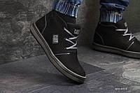Кроссовки в стиле Caterpillar черные, код6418