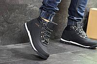 Ботинки Timberland, темно-синие  зима , код6829