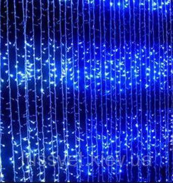 Гирлянда штора-водопад 720 LED 3*3 синий, фото 2