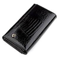 Кошелек женский черный из натуральной кожи с отделом для кредитных карт ST Leather 18433 (S9001A)