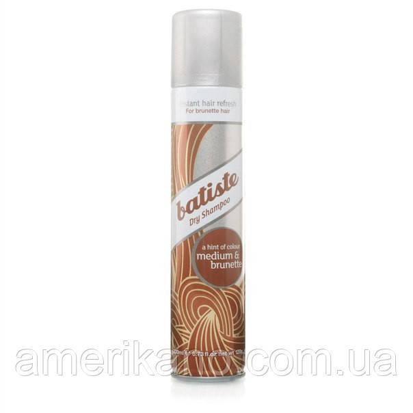 Сухой шампунь Batiste Dry Shampoo Medium & Brunette  для обладательниц волос коричневых оттенков