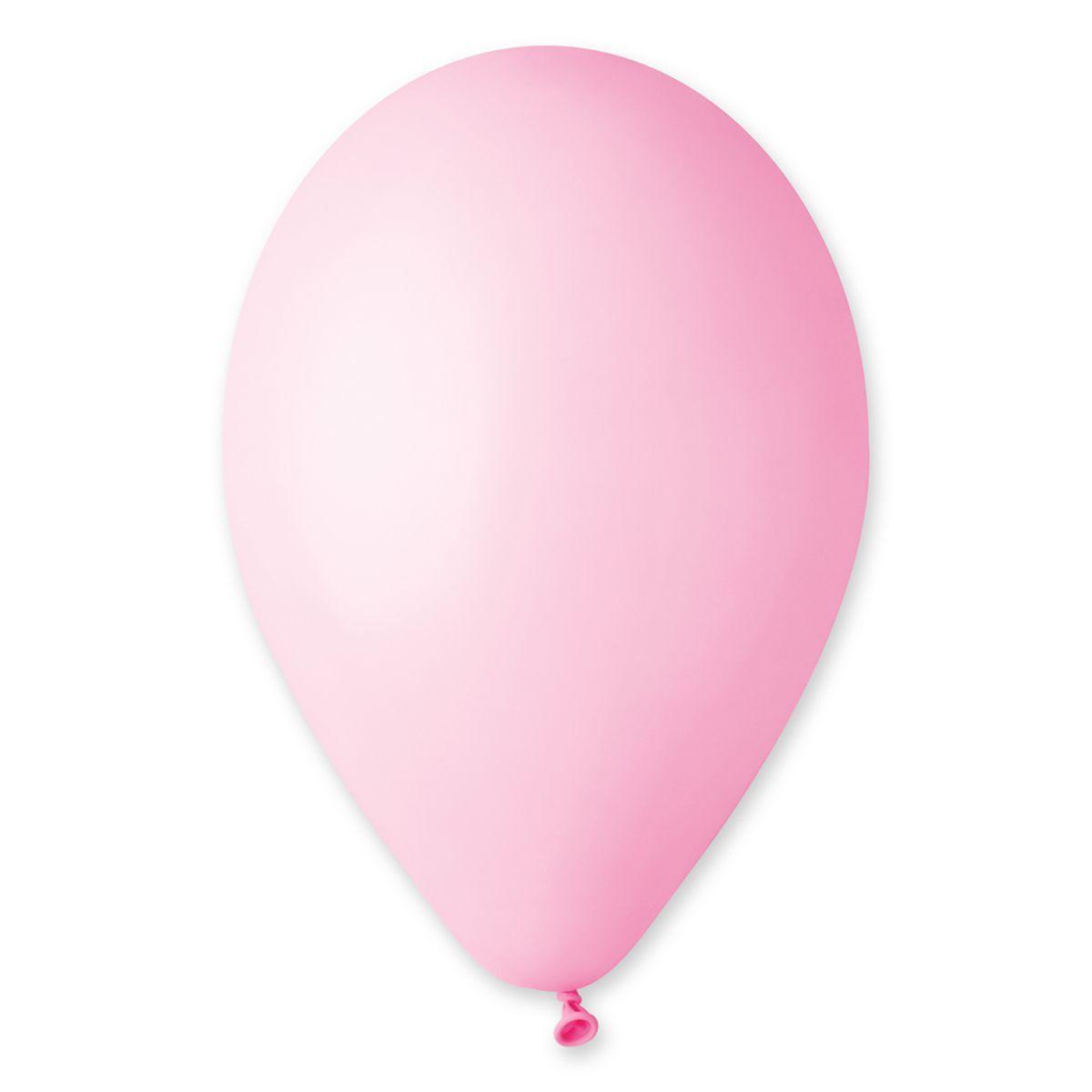 """Повітряні кулі Gemar 12"""" (30 см), Рожевий Матовий (Baby pink) 73, 100 шт (G110)"""