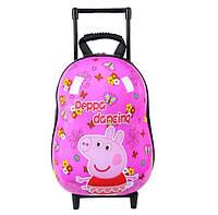 Оригинальный твердый 3Д рюкзак на тележке Свинка Пеппа