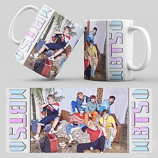 Чашка 330 мл. белая K-Pop BTS 001