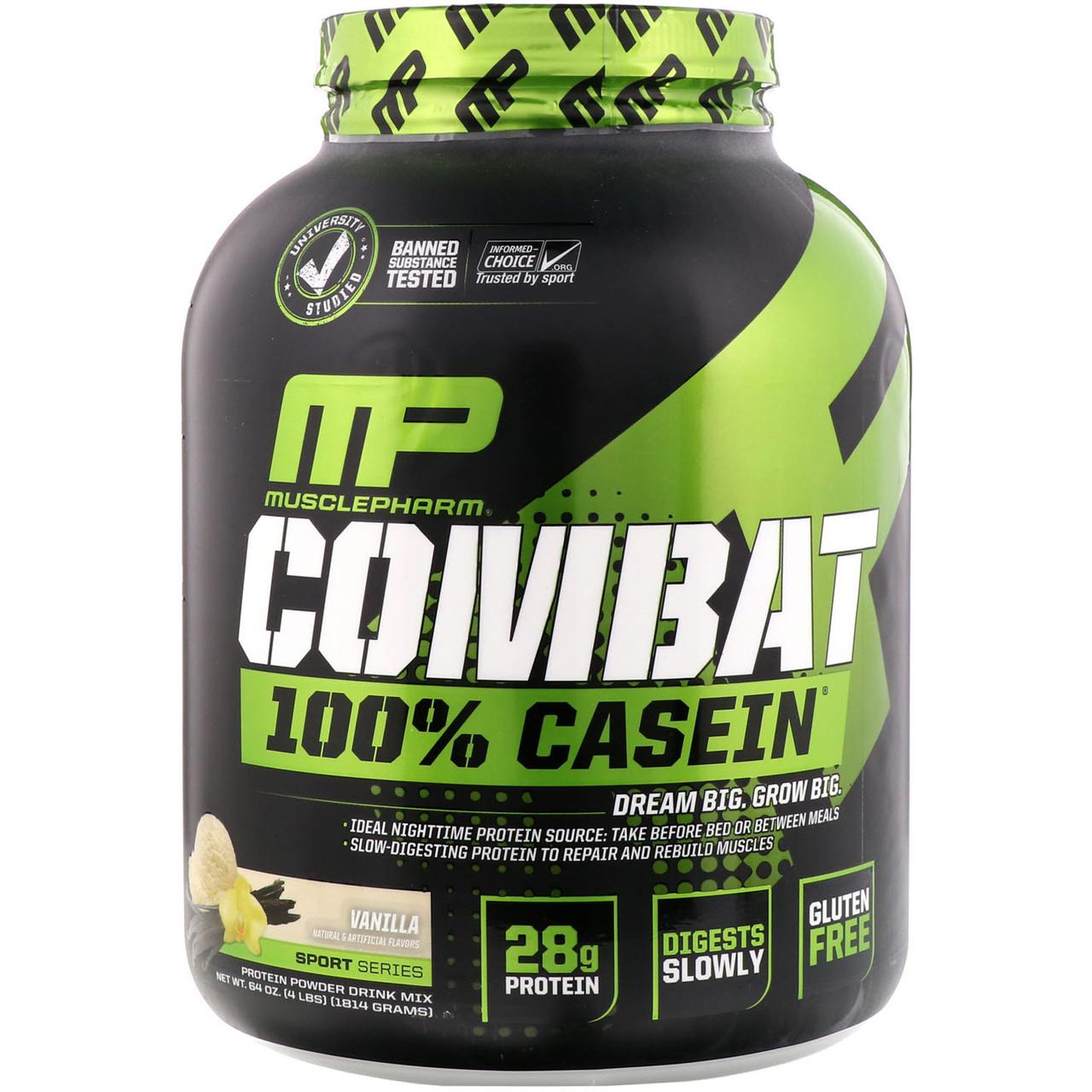 Казеин MusclePharm Combat 100% Casein (1,8 кг)