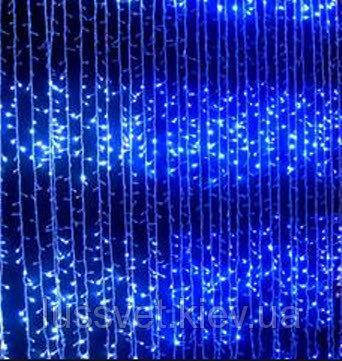 Гирлянда штора-водопад 240 LED 2*2 Синий, фото 2