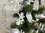 Новогодняя ёлка 40см , украшенная ёлка на новый год 2019, декоративная маленькая ёлка на лесном срубе, фото 3