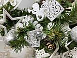 Новогодняя ёлка 40см , украшенная ёлка на новый год 2019, декоративная маленькая ёлка на лесном срубе, фото 6