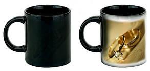 Чашка с Вашим дизайном черная глянцевая ЧЕРНАЯ ВНУТРИ со сменой цвета (Хамелеон)