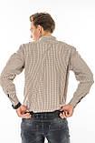 Мужская рубашка Gelix 1207004 в клетку коричневая, фото 4