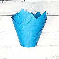 Капсула для кексов (тюльпан синий) (10 шт.)