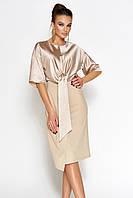 Женское однотонное платье с шелковым верхом (Этель jd)