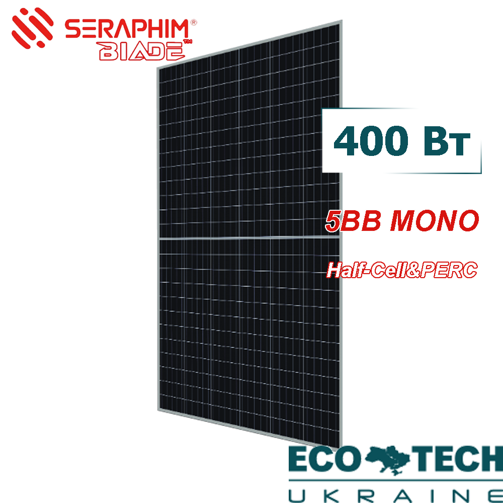 Солнечная батарея Seraphim Mono SRP-400W-BMA Half Cell