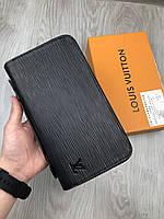Кошелек клатч портмоне LOUIS VUITTON бумажник кожаный мужской женский премиум реплика AAA+