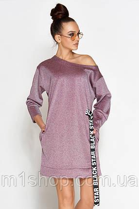 Женское короткое платье из люрекса (Эстер jd), фото 2