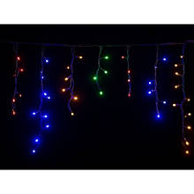 Гирлянда уличная бахрома 5 м 120 LED мульти