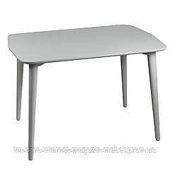 Стол Dan (Ден) 75x110 серый шелк