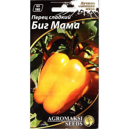 """Семена перца сладкого, раннего, желтого """"Биг мама"""" (0,2 г) от Agromaksi seeds, фото 2"""
