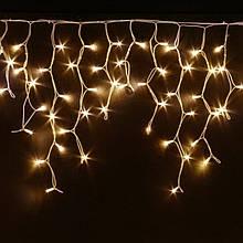 Гирлянда уличная бахрома 5 м 120 LED Золотой (белый шнур)