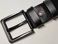 Мужской кожаный ремень (под джинсы, черный)