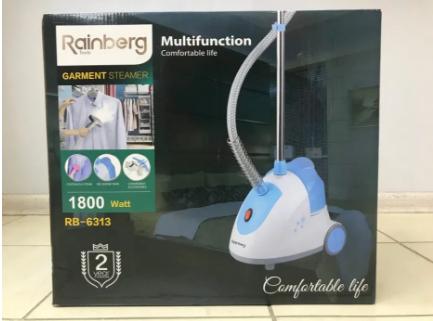 Отпариватель Rainberg RB-6313 1800W, пароочиститель для одежды c вешалкой, парогениратор Вертикальный
