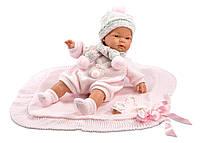 Кукла плачущая говорящая Joelle Llorona Toquilla Rosa Llorens 38 см