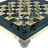 Шахматы «Римляне», зеленые,Греция, MANOPOULOS 28х28 см (088-0303S), фото 2