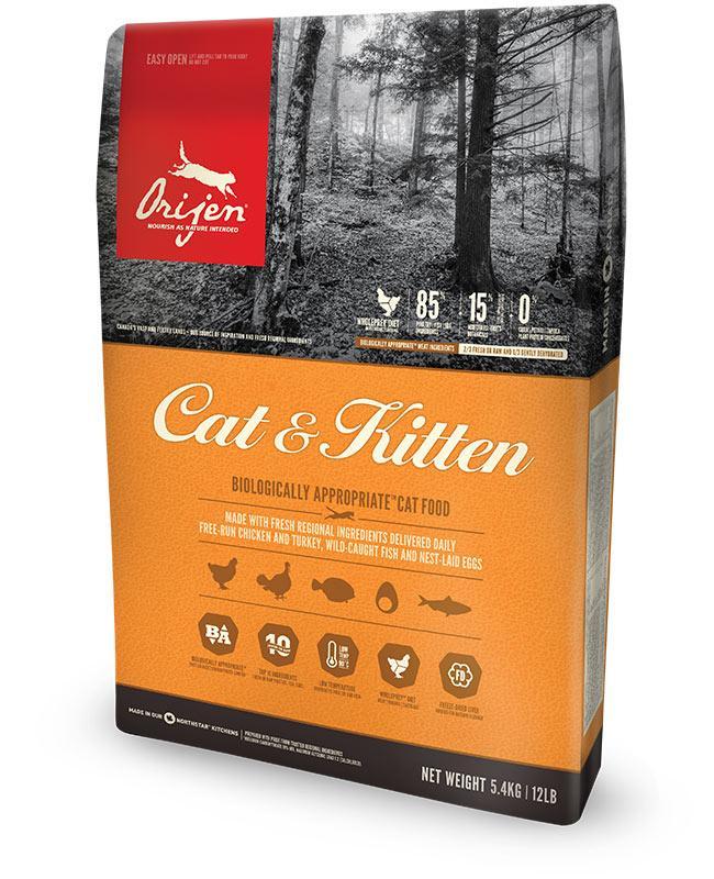 Orijen Cat and Kitten (Ориджен Кіт і Кітен)- корм з курчам для кішок і кошенят усіх порід 0,34 кг