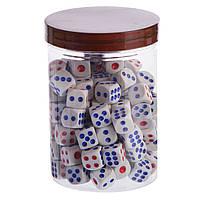 Кости игральные для игр цветные, 80 шт., р-р 1,4x1,4см. (IG-0378)