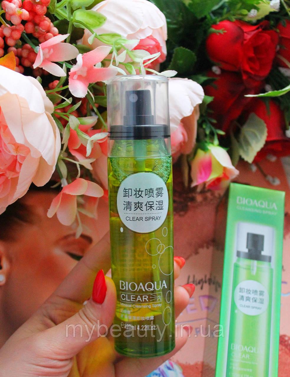 Мінеральний спрей BIOAQUA для зняття макіяжу