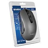 Мишка SVEN RX-515S безшумна USB, сіра, фото 8