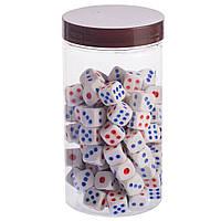 Кости игральные для игр цветные, 100шт., р-р 1,2x1,2см. (IG-0377)