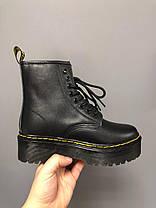 Зимние женские ботинки Dr. Martens Jadon Black FUR Доктор Мартинс Жадон черные С МЕХОМ, фото 3