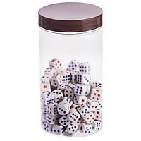 Кости игральные для игр цветные, 120шт., р-p 1,0x1,0см. (IG-0376)