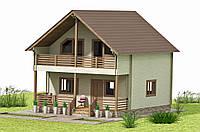 Дом из двойного профилированного бруса 7х9 м. Кредитование строительства деревянных домов