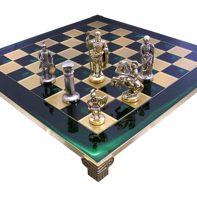 Шахматы «Римляне» Manopoulos, зеленые, 44х44 см (088-1102S)
