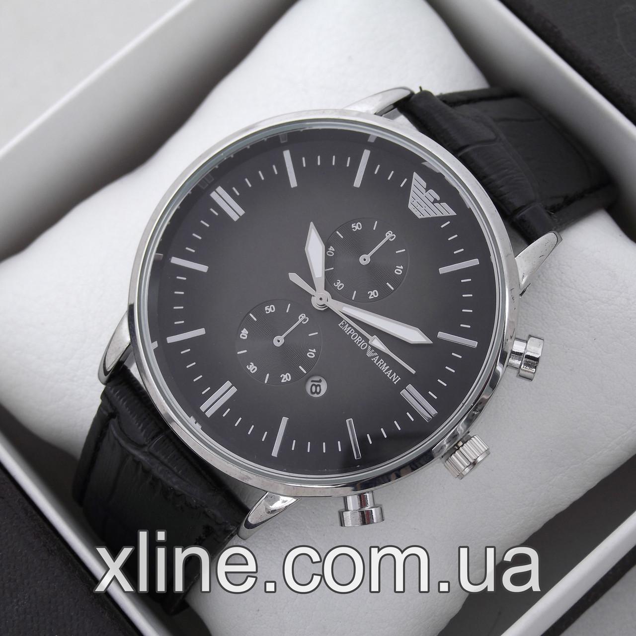 Мужские наручные часы Emporio Armani T142 на кожаном ремешке