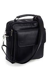 Мужская сумка барсетка из экокожи чёрная (09-97)
