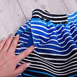 Чоловічі шорти в лінію (плащівка), синього кольору, фото 2