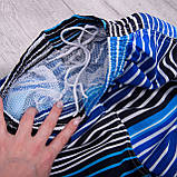 Чоловічі шорти в лінію (плащівка), синього кольору, фото 3