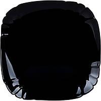 Тарелка обеденная 25,5 см Lotusia Black Luminarc P7063