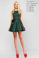 Женское нарядное короткое платье Lipar Зеленое