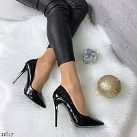 Лаковые туфли женские на шпильке