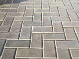 """Плитка тротуарна """"Кирпичик сірий 100х200"""" висота 4см, 6см, фото 2"""