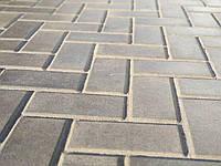 """Плитка тротуарна """"Кирпичик сірий 100х200"""" висота 4см, 6см"""