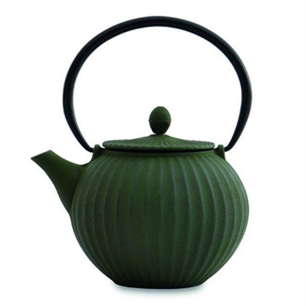 Чайник заварювальний чавунний, темно-зелений, 1,3 л BergHOFF 1107118