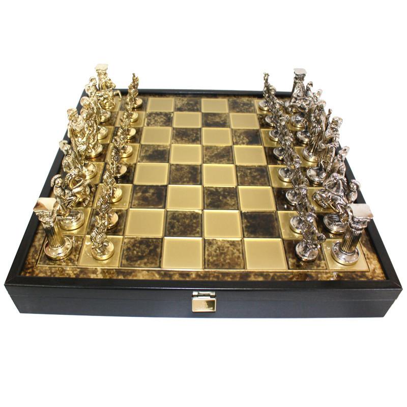 Шахматы «Римляни», коричневые, Manopoulos, 40х40 см (088-1104SK)